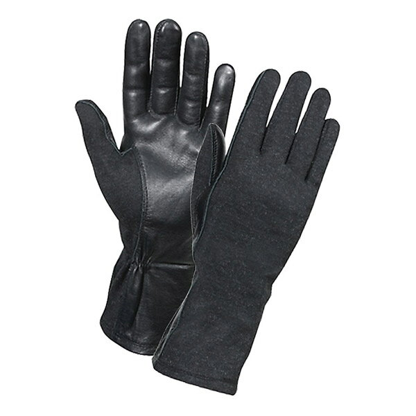ロスコ 羊革フライトグローブ 耐熱仕様 [ ブラック / Sサイズ ] 3457 Rothco | 革レザーグローブ 皮製 皮タクティカルグローブ ミリタリーグローブ