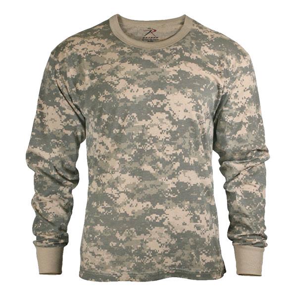 Rothco Tシャツ 長袖 デジタルカモ 6385 [ Lサイズ ] ロングTシャツ ロンT 長そでミリタリーシャツ ACU DIGITAL CAMO 長袖シャツ アーミーシャツ アサルトシャツ TDUシャツ カモフラージュ 迷彩