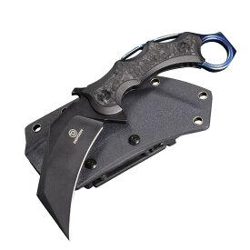 Defcon アウトドアナイフ JUNGLE KNIFE カランビット シースナイフ カランビットナイフ フルタング カイデックスシース CQC 刃物 キャンプナイフ 渓流ナイフ