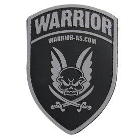 Warrior Assault Systems パッチ ロゴ シールド型 ベルクロ [ ブラック ] ウォーリアーアサルトシステム ミリタリーパッチ ロゴマーク URL 盾型 ミリタリーワッペン アップリケ 記章 ラバー ゴム