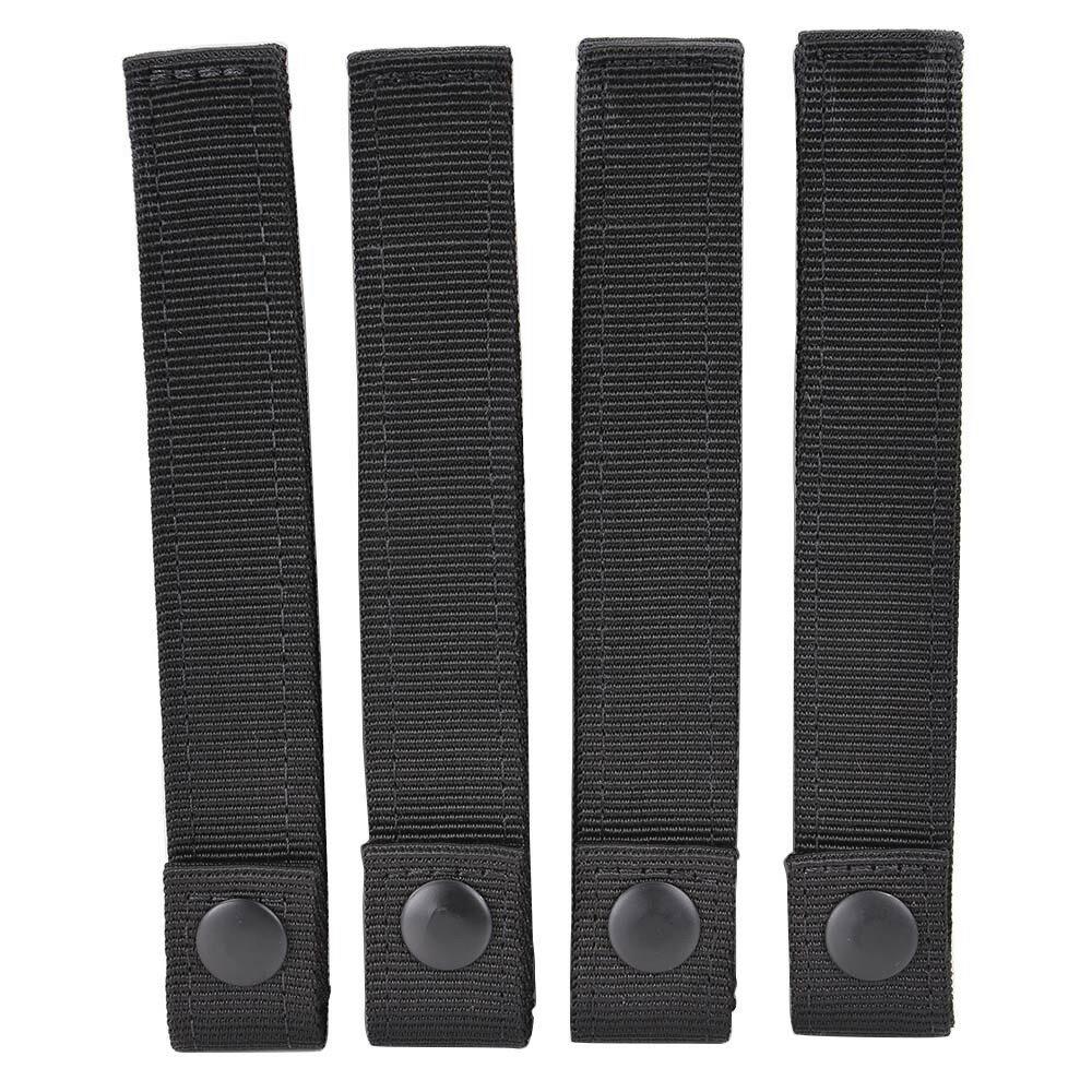 CONDOR モジュラーストラップ 4本セット [ ブラック / 6インチ ] コンドルアウトドア モールシステム MOLLE モールアクセサリー