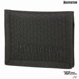マックスペディション LPW 2つ折り財布 カードサイズ [ ブラック ] MAXPEDITION Low Profile Wallet 二つ折りウォレット パスケース