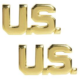 Rothco ピンバッジ U.S. ゴールド 2個入 ピンズ ミリタリーバッジ ミリタリーバッチ 記章 徽章 襟章 肩章 胸章 袖章 臂章 階級章 エンブレム