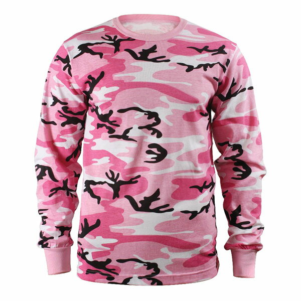 Rothco Tシャツ 長袖 ピンクカモ [ Lサイズ ] ロングTシャツ ロンT 長そでミリタリーシャツ 長袖シャツ アーミーシャツ アサルトシャツ TDUシャツ カモフラージュ 迷彩