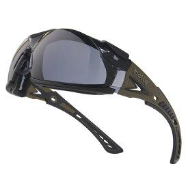 Bolle サングラス Rush Plus スモークレンズ ケース付 [ ブラウン&ブラック ] メンズ アイウェア 紫外線カット UVカット 保護眼鏡 保護メガネ 曇り止め ボレー ラッシュプラス smoke safety ボレーセーフティー