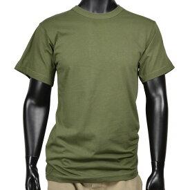 ロスコ 半袖Tシャツ 無地 コットン [ オリーブドラブ / Lサイズ ] Rothco メンズTシャツ 半そで プリント デザイン スポーツ ミリタリーTシャツ ミリタリーシャツ