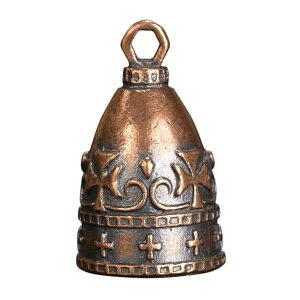 ペンダントトップ ベル型 チャーム 十字架 [ ブロンズ ] ネックレス 鐘 クロス ペンダントヘッド キーホルダー メンズ 中世ヨーロッパ アンティーク