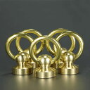 ドロップハンドル 真鍮 Oリング ジョイントパーツ ドロップリング ブラス | 組ネジ コンチョ用ネジ 革細工 レザークラ…