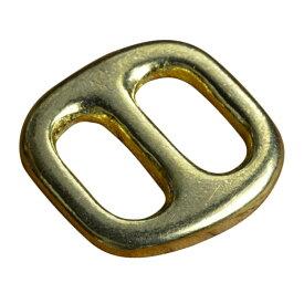 真鍮製 日カン 移動コキ 角なし [ 13mm ] ブラス レザークラフト ハンドクラフト 革紐細工 ハンドメイド 手芸 手作り 調節金具 ベルト調節具