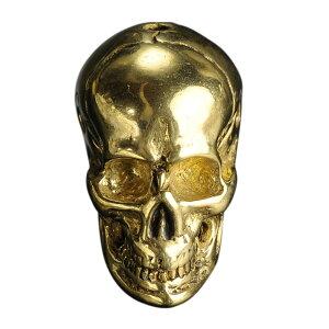 ペンダントトップ スカル 真鍮 バチカン無し アクセサリー ドクロ 骸骨 黄銅 ブラスキーホルダー メンズ チャーム チョーカー ペンダントヘッド 鋳物 鋳造