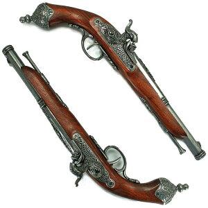 DENIX モデルガン 古式銃 2丁セット パーカッションロック 2-1013/G デニックス レプリカ アンティーク銃 西洋銃 装飾銃 装飾用長短銃 火縄銃 リボルバー