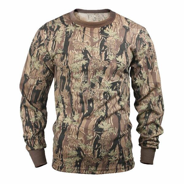 Rothco Tシャツ 長袖 SBカモ 6770 [ Lサイズ ] ロングTシャツ ロンT 長そでミリタリーシャツ SMOKEY BRANCH 長袖シャツ アーミーシャツ アサルトシャツ TDUシャツ カモフラージュ 迷彩