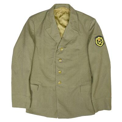 ロシア軍放出品フィールドジャケット陸軍将校用オリーブドラブ[腕部パッチ付]ソ連軍野戦用士官ジャケット