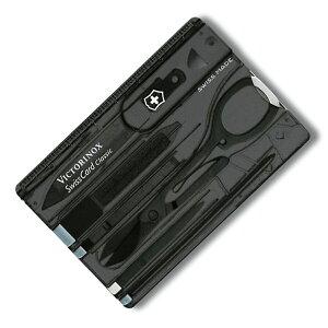 VICTORINOX マルチツール 0.7133.T3 スイスカード T3 BK Victorinox SwissCard ツールナイフ 十徳ナイフ キャンピングナイフ 万能ナイフ カードツールナイフ カードナイフ ナイフカード