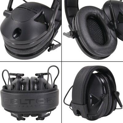 PELTOR電子防音イヤーマフNRR22タクティカル100ペルターヒアリングプロテクター騒音対策防音耳あて工事用防音ヘッドフォン騒音作業