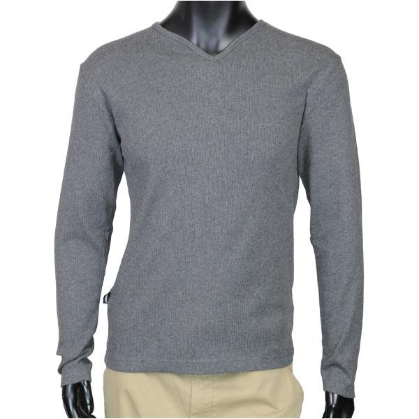 AVIREX Tシャツ 長袖 デイリー キーネック ワッフル [ チャコールグレー / Mサイズ ] ロングTシャツ ロンT 長そでアヴィレックス アビレックス 6143329 DAILY ミリタリーシャツ 長袖シャツ