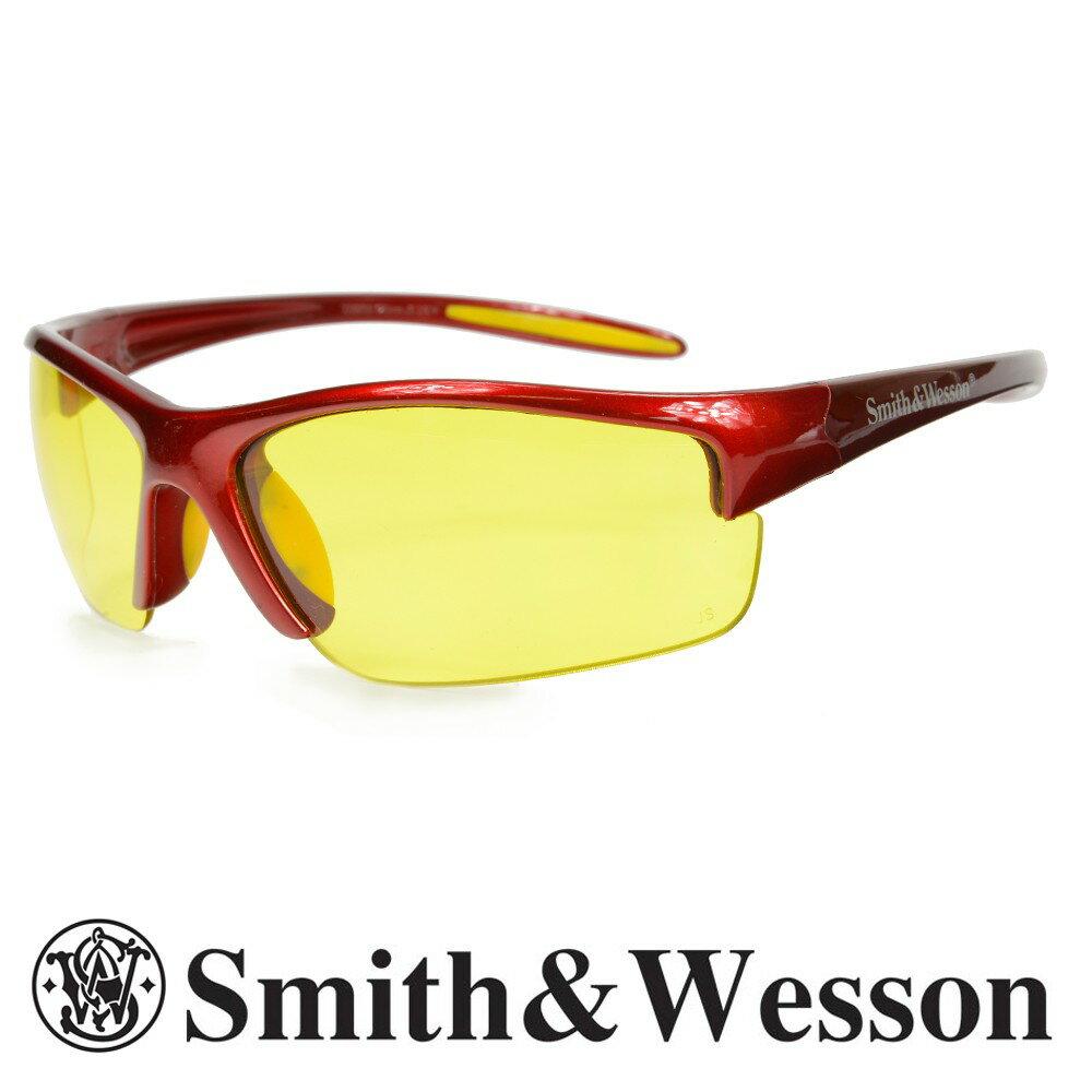 スミス&ウエッソン サングラス イコライザー イエロー S&W | スミス&ウェッソン メンズ スポーツ 紫外線カット UVカット グラサン 運転 ドライブ バイク ツーリング 曇り止め アンバー 黄色