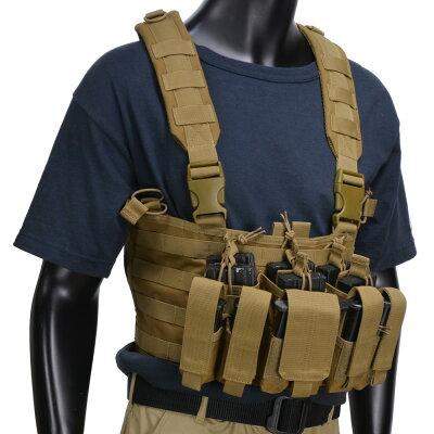 CONDORチェストリグMCR5リーコンM4/ピストルマガジン6本[コヨーテブラウン]OUTDOORコンドルアウトドア弾薬帯M4マガジンポーチM16マガジンポーチM4マグポーチM16マグポーチサスペンダー
