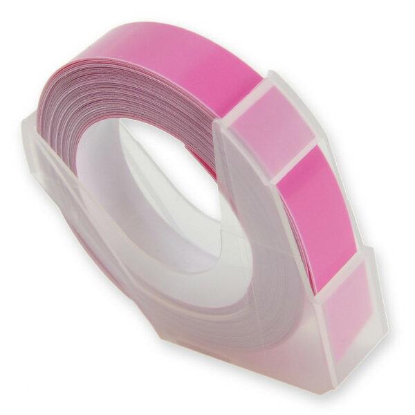エンボステープ DYMO用 9mmx3m ダイモ [ パステルピンク ] RM900PPK リフィルテープ レイチェル