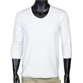 AVIREX 7分袖Tシャツ 無地 デイリー Uネック [ ホワイト / Mサイズ ] アヴィレックス アビレックス 6143509 DAILY ミリタリーシャツ 7分袖シャツ ロングTシャツ