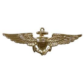 Rothco ピンバッジ 1654 米軍徽章 海軍飛行士 ゴールド ピンズ ミリタリーバッジ ミリタリーバッチ 記章 襟章 肩章 胸章 袖章 臂章 階級章 エンブレム