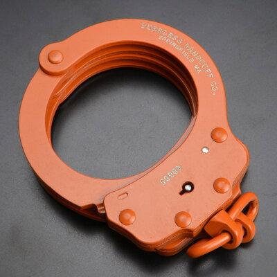 ピアレス手錠チェーンタイプ750Cダブルロックpr4712[オレンジ]Peerlessハンドカフス