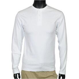 AVIREX Tシャツ 長袖 ヘンリーネック 無地 デイリー [ ホワイト / Mサイズ ] ロングTシャツ ロンT 長そでアヴィレックス アビレックス 618875 ミリタリーシャツ 長袖シャツ アーミーシャツ