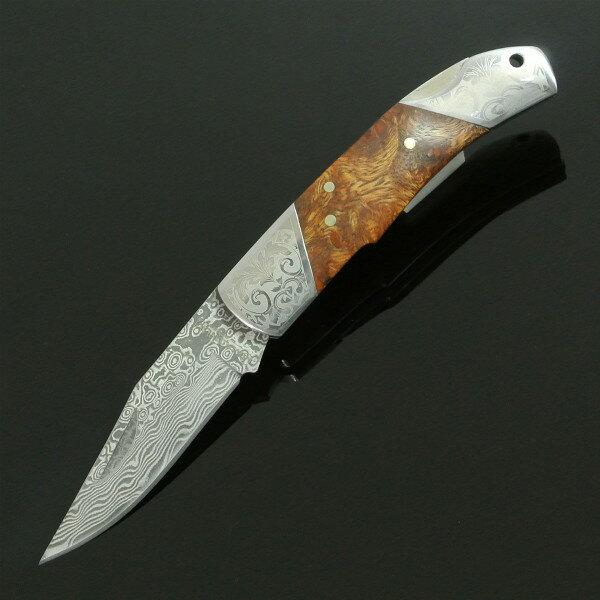 BOKER 折りたたみナイフ デューク ダマスカス 946DAM   ボーカー 折り畳みナイフ フォルダー フォールディングナイフ ホールディングナイフ