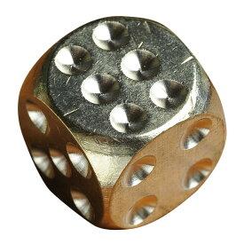 サイコロ 真鍮製 ダイス 丸角 [ 15mm ] 正六面体 さいころ dice 黄銅 ゲーム