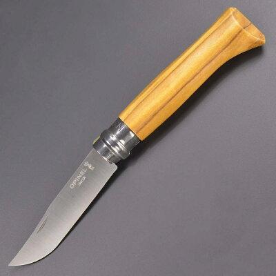 オピネル折りたたみナイフNo8オリーブステンレス鋼