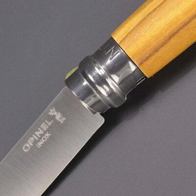 OPINEL折りたたみナイフNo8オリーブステンレス鋼オピネル折り畳みナイフフォルダーフォールディングナイフホールディングナイフ