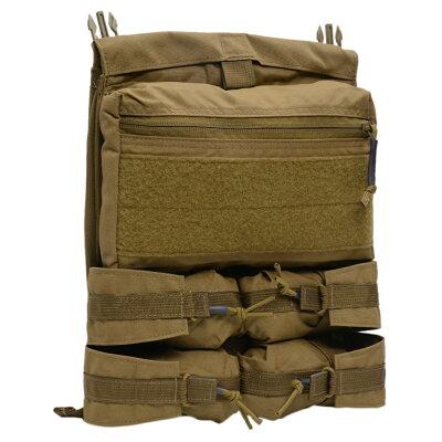 LBXtacticalバンガーバックパネルプレートキャリア用パーツArmatusll対応[コヨーテブラウン]エルビーエックスベルクロサバゲー装備装備品ミリタリー