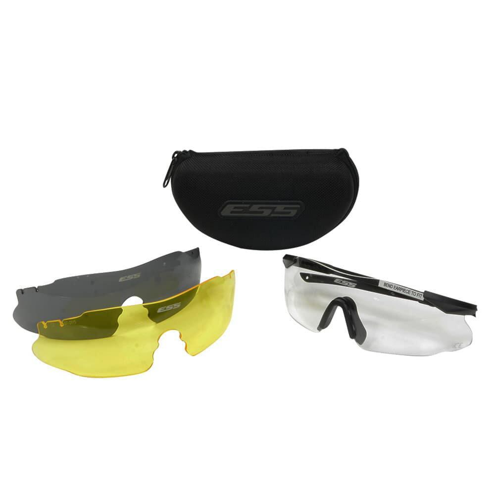 ESS シューティンググラス ICE3 ハードケースタイプ | 3LS アイス3 アイシールドサングラス メンズ 紫外線カット UVカット グラサン クレー射撃 保護眼鏡 保護メガネ 曇り止め