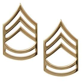 Rothco ピンバッジ 米軍階級章 一等軍曹 2個セット [ ゴールド ] ピンズ ミリタリーバッジ ミリタリーバッチ 記章 徽章 襟章 肩章 胸章 袖章 臂章 ランクバッジ