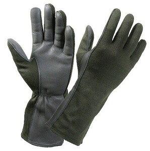 ロスコ 羊革フライトグローブ 耐熱仕様 [ オリーブドラブ / Mサイズ ] 3457 Rothco | 革レザーグローブ 皮製 皮タクティカルグローブ ミリタリーグローブ パイロットグローブ 軍用手袋
