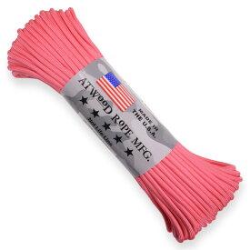 ATWOOD ROPE 550パラコード タイプ3 ピンク アトウッドロープ ARM 桃色 桜色 撫子色 商用 パラシュートコード 綱 靴紐 靴ひも シューレース 防災