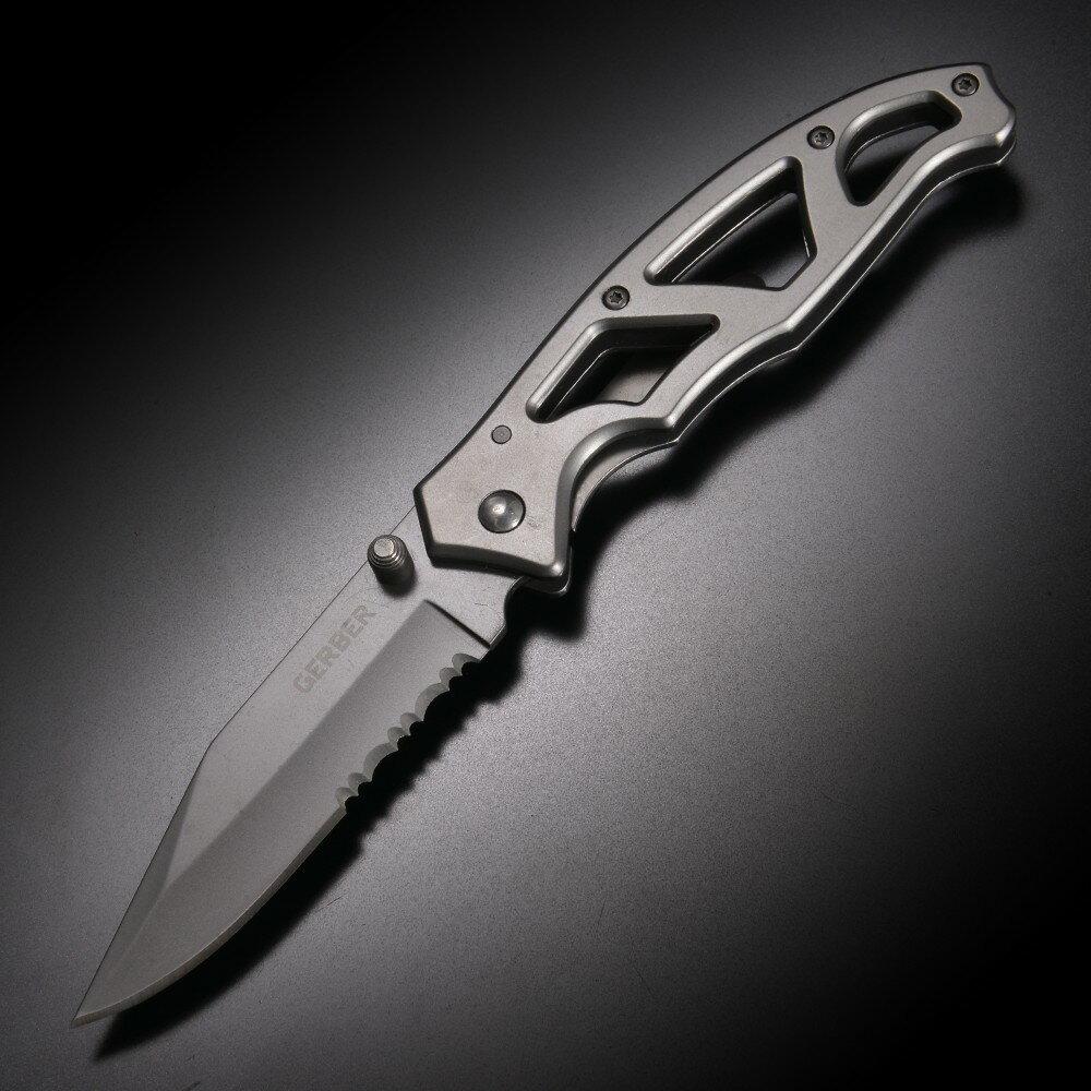 GERBER 折りたたみナイフ 8445 パラフレーム1 半波刃 オールブラック | 折り畳みナイフ フォルダー フォールディングナイフ ホールディングナイフ