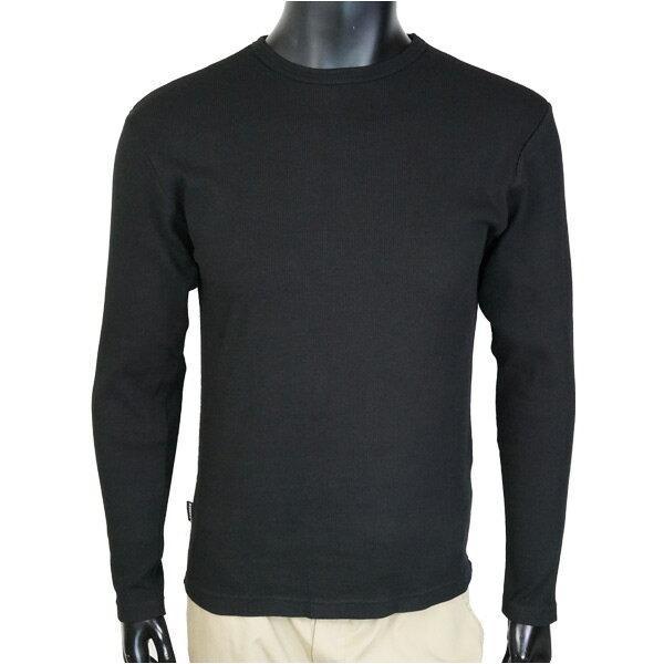 AVIREX Tシャツ 長袖 デイリー クルーネック ミニワッフル [ ブラック / Mサイズ ] ロングTシャツ ロンT 長そでアヴィレックス アビレックス 6143333 メンズ メンズTシャツ トップス カットソー