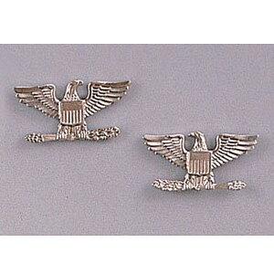 Rothco ピンバッジ 米軍階級章 大佐 2個セット [ シルバー ] ピンズ ミリタリーバッジ ミリタリーバッチ 記章 徽章 襟章 肩章 胸章 袖章 臂章