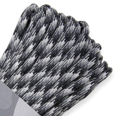 ATWOODROPE550パラコードタイプ3アーバンカモアトウッドロープARM商用UrbanCamo白黒モノクロパラシュートコード綱靴紐靴ひもシューレース防災