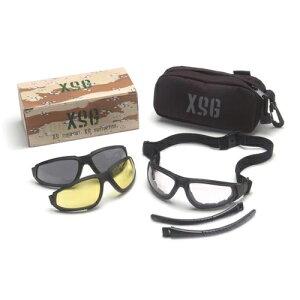 Pyramex セーフティゴーグル XSG 3色交換レンズ付 | セーフティアイウエア 紫外線 UVカット 安全保護防塵曇り止め バイカーゴーグル バイカー用ゴーグル バイク用ゴーグル バイクゴーグル