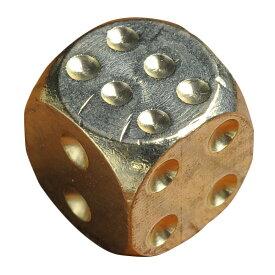 サイコロ 真鍮製 ダイス 丸角 [ 13mm ] 正六面体 さいころ dice 黄銅 ゲーム