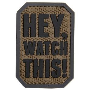 ミルスペックモンキー PVCパッチ Hey Watch This ベルクロ付き [ ACU ] MSM MIL-SPEC MONKEY ミリタリー ワッペン アップリケ サバゲ? ミリタリーワッペン ミリタリーパッチ スリーブバッジ