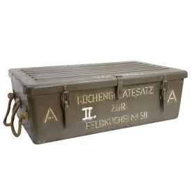 オーストリア軍放出品 ツールボックス 食器 カトラリー用 フィールドキッチン M58 ミリタリーボックス コンテナボックス ギアボックス 調理機材 軍物 ビンテージ OD オリーブドラブ 軍払い下げ