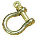シャックル 馬蹄型 真鍮パーツ [ 25mm ] ブラス 黄銅 レザークラフト ハンドクラフト 革紐細工 手作り キーホルダー DIY 金具 ブラスパ…
