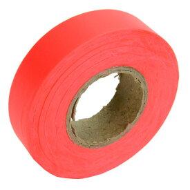 ALLEN マーキングテープ 蛍光オレンジ 45m アレン | フラグテープ マスキングテープ フラッキングテープ 非粘着テープ