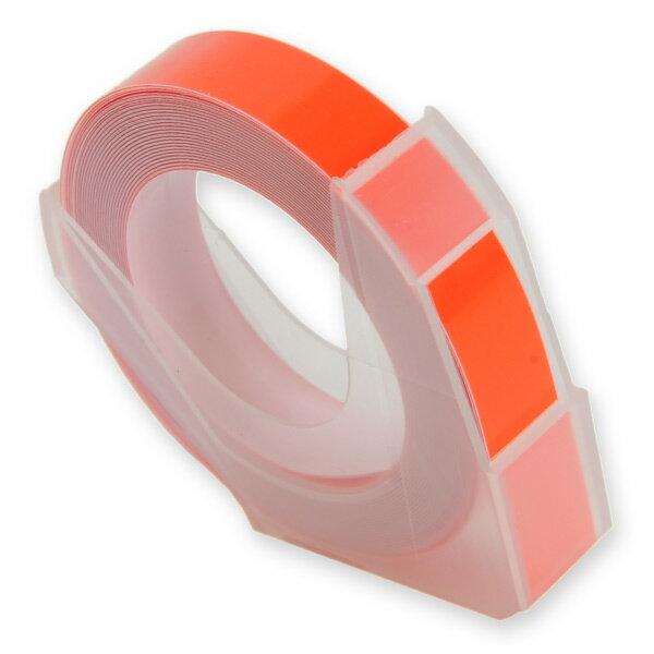 エンボステープ DYMO用 9mmx3m ダイモ [ オレンジ ] RM900OR リフィルテープ レイチェル