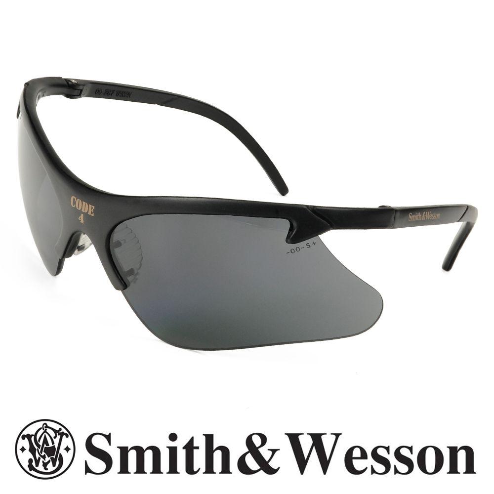 スミス&ウエッソン シューティングラス Code4 ブラック S&W シューティンググラス | スミス&ウェッソン コード4 サングラス メンズ 紫外線カット UVカット グラサン クレー射撃 保護眼鏡 保護メガネ 曇り止め
