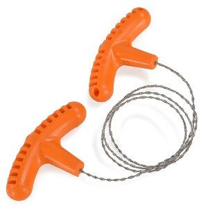ワイヤーチェーンソー T字持ち手 ステンレス  [ 60cm ] ワイヤーソー コンパクト 携帯のこぎり ワイヤーのこぎり ワイヤーソーイング アウトドア 防災 緊急用