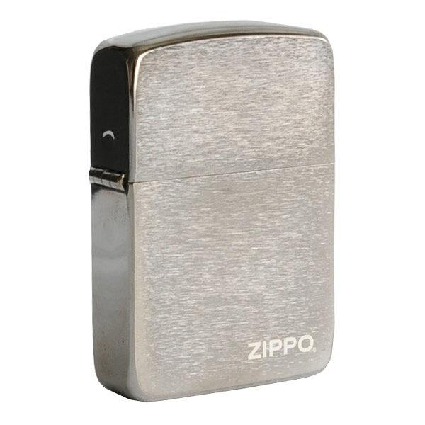 ZIPPO 1941復刻版 ブラックアイス #24485 ロゴ 1941年 復刻モデル ジッポー オイルライター